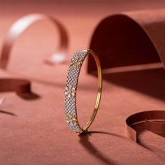 Simple classy and chic design bracelet. Gold Ring Designs, Gold Bangles Design, Gold Earrings Designs, Bracelet Designs, Jewelry Design, Gold Bangle Bracelet, Gold Bracelet Indian, Diamond Bracelets, Indian Gold Bangles