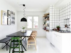 functionalist scandinavian kitchen (via stadshem) Wegner stole