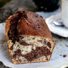 Chocolate marble banana bread (in Polish)