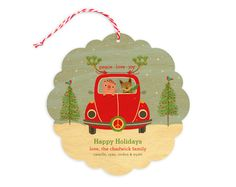 Peace Love Bug Ornament by Night Owl Paper Goods - $4.00 My Sweetheart was into the vintage VW Bugs! This is a joyful & charming illustration  Also Perfect AS A Ornament  One can hang this darling on the x-mas tree & many other places to Cheer up friends loved one and spaces!!  Check out the back!!!!!