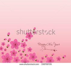 Chinese New Year plum blossom Background