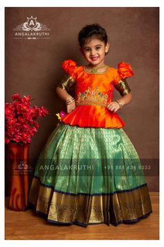 Girls Frock Design, Kids Frocks Design, Baby Frocks Designs, Baby Dress Design, Kids Lehanga Design, Baby Lehenga, Kids Lehenga Choli, Silk Lehenga, Kids Saree