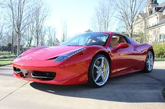 Ferrari 458 Spider for rent. Perfect for your next special event, movie production, TV commercial or photo shoot.