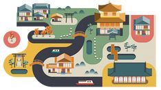 Japan | World city illustrations by Jing ZhangArt and design inspiration from around the world – CreativeRoots
