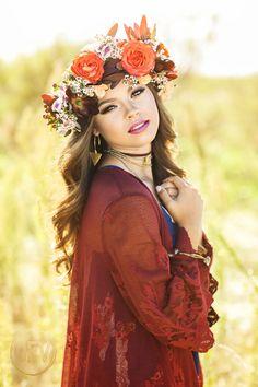 Senior picture portrait ideas natural standing pose flower crown boho www.devonjimagery... Devon J. Imagery 2016 Wichita Falls, Texas