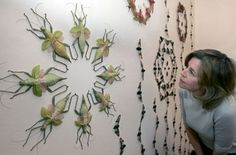 Jennifer Angus - wallpaper exhibit of insects