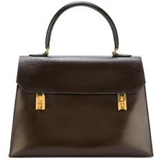 Hermès Vintage Saint Tropez Tote Bag ($5,449) ❤ liked on Polyvore featuring bags, handbags, tote bags, brown, leather totes, genuine leather tote, vintage leather purses, vintage leather tote bag and vintage leather handbags