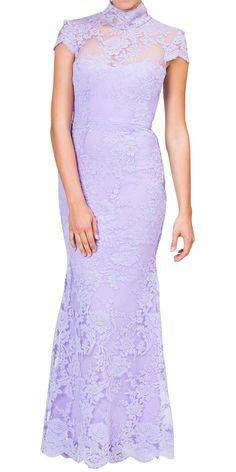 Alex Perry - scallop cord lace gown