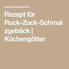 Rezept für Ruck-Zuck-Schmalzgebäck  | Küchengötter