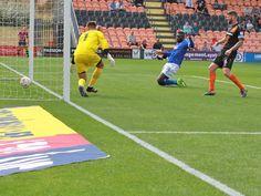 Jabo Ibehre opens the scoring: Barnet 0 - 1 CU.