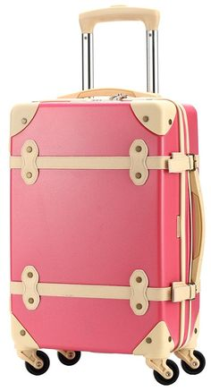 8e375a6ca7848 Ambassador Luggage Antique Fashion Polycarbonate Spinner Suitcase 20 Inch  Carry On Burgundy