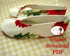 Sewing Pattern for Woman's Kimono Shoes  PDF by LenasShoePatterns
