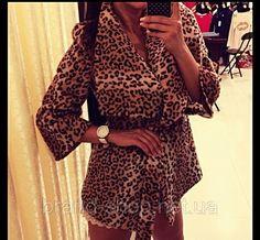 Пальто Леопардовое короткое
