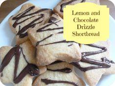 Lemon and Chocolate drizzle shortbread recipe