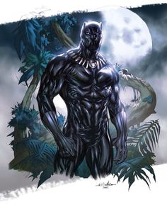 🐆🐆🐆🐆🐆🐆🐆🐆🐆The Black Panther, Protector of Wakanda! By Guile Sharp with Colors by Daniel Chavez Black Panther Party, Black Panther Marvel, Black Panther Drawing, Black Panther King, Marvel Dc, Marvel Comics, Disney Marvel, Marvel Heroes, Marvel Universe