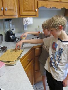 Making Rice Krispy S'more pops - (MY NEPHEWS WON THE CONTEST!!!)