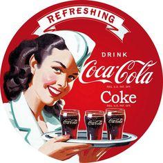 Coca Cola pin up plateau Coca Cola Poster, Coca Cola Ad, Always Coca Cola, World Of Coca Cola, Pin Ups Vintage, Vintage Ads, Vintage Posters, Vintage Signs, Vintage Coca Cola