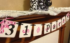 31 (Thirty-One) Banner, 31 sign, 31 party, Decoration, Sign, Garland, 31 Consultant, Pink and Black. $16.00, via Etsy.