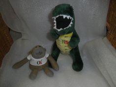 PG Tips Chimp & Dinosaur - Advertising soft toys