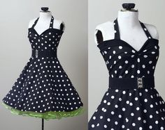 polka+dot+retro+rockabilly+Yvonne+swing+dress+by+smarmyclothes,+$130.00