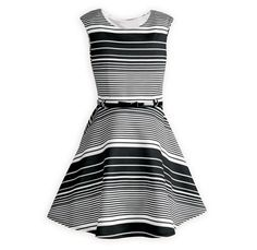 b647180c1f2 Black and White Striped Swing Dress 7-16 Black and white striped sleeveless  waisted dress. Wooden Soldier