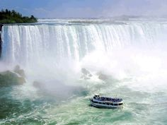Niagara Falls. I flew over these Falls in a helicopter when I was 19.. Too scared to do that now !