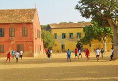 Boys enjoying one of Africa's favorite pastimes, football, on Ile de Goree in Dakar, Senegal. Photo credit: Julienne Oyler.
