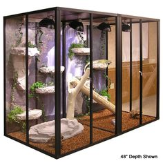 Website for cool large cages for lizards and birds and such
