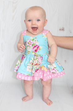 Baby Poppy's Peekaboo Dress PDF Pattern | YouCanMakeThis.com