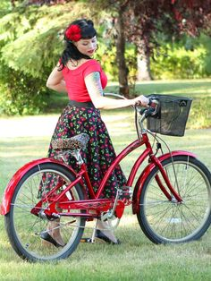 The Cherry Swing Skirt is designed by Rockabetty