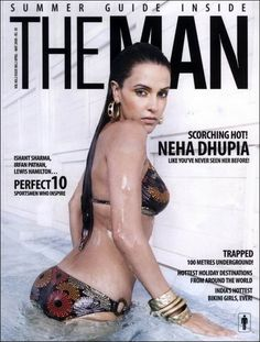 Neha Dhupia Wet Bikini Summer Man Mag