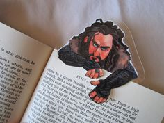 The Hobbit Thorin Oakenshield clip over bookmark by FromMyHat