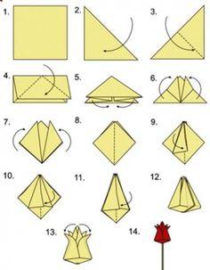 How to DIY Origami Tulip 2