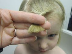 Simply Clean Living: How-Tuesday: How to Cut Bangs