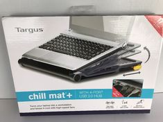 """Targus Chill Mat Plus with 4-Port Hub and Two High Speed Fans fits up to 17"""" #Targus"""