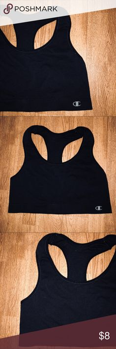 XL Champion Black Sports Bra CONDITION: Good to Excellent Used   BRAND: Champion   SIZE: XL  DETAILS: athletic dri fit like material. No padding but madewell black with design. Racer back. Nylon/Spandex  FLAWS: May contain a fuzz or 2 which is easily removable.   #Champion #AthensOH #forsale #Sportsbra  #Fashion #Style #TopShopStyles #ClothesFORSALE  @CksClosetOverload  Item No. 5 Champion Intimates & Sleepwear Bras