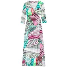 Madison Knight - Lacey Maxi Wrap Dress ($400) ❤ liked on Polyvore featuring dresses, graphic dresses, wrap maxi dress, tie-dye maxi dresses, low v neck dress and tie dress