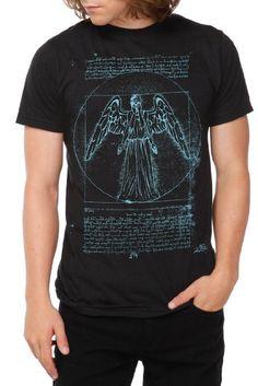 Very cool looking Weeping Angel shirt
