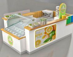 fresh juice kiosk on Behance Fresh Juice Bar, Best Fruit Juice, New Fruit, Juice Bar Design, Food Cart Design, Smoothie Shop, Food Kiosk, Juice Packaging, Fruit Shop