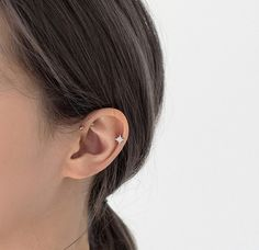 Piercing Ear Helix Etsy Ideas - Edeline Ca. Helix Earrings, Cartilage Earrings, Star Earrings, Rose Gold Earrings, Gold Hoop Earrings, Double Pierced Earrings, Cartilage Hoop, Double Cartilage, Ear Piercings Helix