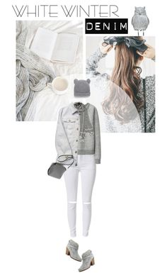 """Winter Whites"" by twiluv18 ❤ liked on Polyvore featuring Uniqlo, Versace, MANGO and rag & bone"