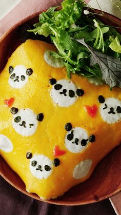 Panda Omurice An omelet so cute, you'll question whether to eat it or not (you will).<br> An omelet so cute, you'll question whether to eat it or not (you will). Tasty Videos, Food Videos, Recipe Videos, Omurice Recipe Japanese, Bento Recipes, Cooking Recipes, Bento Box Lunch For Kids, Cute Bento Boxes, Cute Food