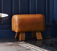 Ken Fulk Leather Pommel Stool | Pottery Barn