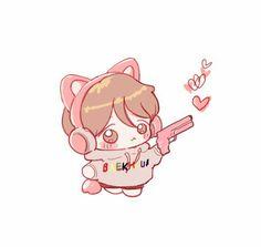 Baekhyun Fanart, Chanbaek Fanart, Doodle Icon, Doodle Art, Exo Cartoon, Exo Anime, Children Sketch, Exo Fan Art, Korean Art