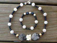 Bone jewelry Animal bone necklace set by NanabojoDesigns on Etsy, $40.00