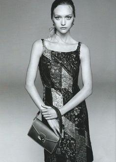 Gemma Ward by Steven Meisel for Prada S/S 2015.