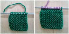 Apuros de una tejedora compulsiva: Tutorial: Hacer un Log Cabin de punto Knitting Stitches, Diy And Crafts, Crochet Necklace, Blanket, Fashion Design, Exercise, Baby, How To Knit, Shape