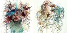 Carne Griffiths' portraits of ink, tea, and vodka