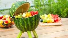 How To Make A Grill Out Of A Watermelon