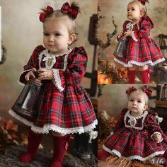 Baby Girl Red Dress, Baby Girl Christmas Dresses, Baby Girl Dress Patterns, Little Girl Dresses, Baby Dress, Dress Red, Baby Girl Princess, Toddler Christmas, Look
